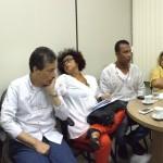 Lideranças religiosas acompanharam Mãe Lúcia Omidewá na reunião com o secretário-adjunto | Fotos: Dalmo Oliveira